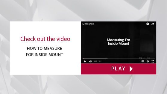 How to Measure for Inside Mount Video